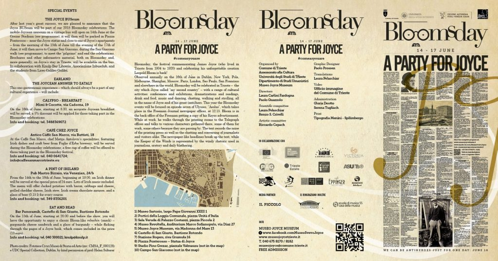 date orari Bloomsday